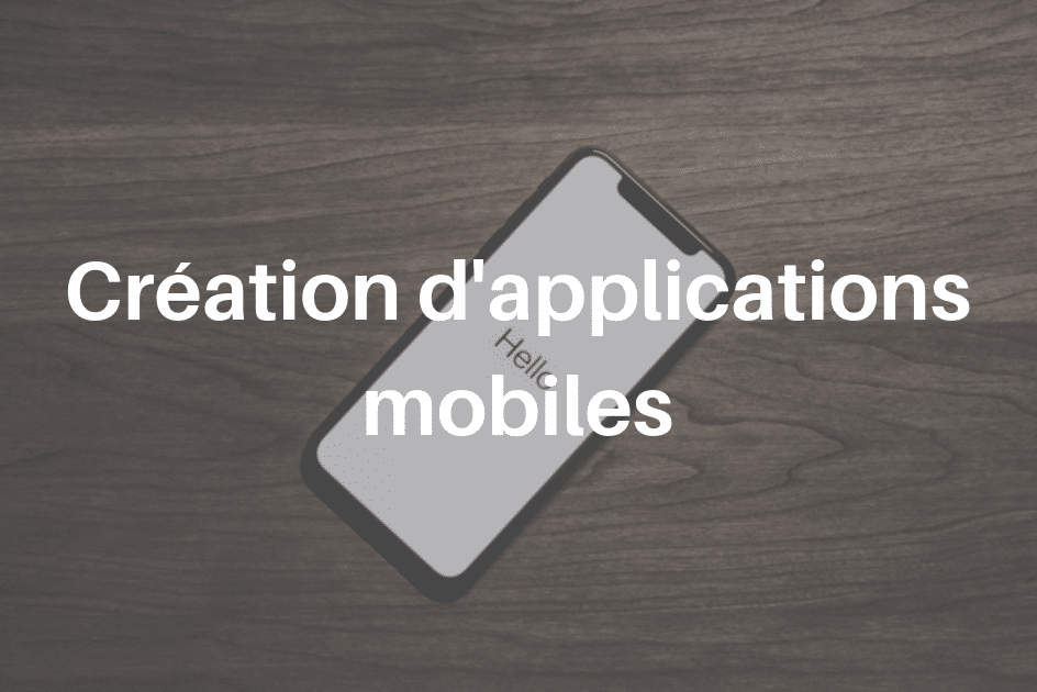 creation applications mobiles service